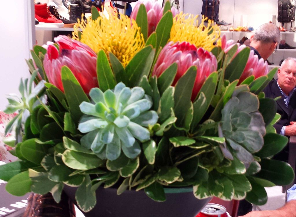 Event flowers available in varied colors and vases.